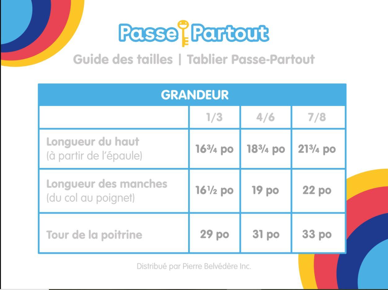 TABLIER DE BRICOLAGE PASSE-PARTOUT MAUVE (4-6 ANS)
