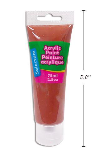 PEINTURE ACRYLIQUE BRUN EN TUBE FORMAT 75ML