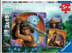 RAVENSBURGER CT 3 X 49 PCS - DISNEY RAYA ET LE DERNIER DRAGON #05098