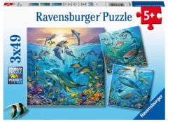 RAVENSBURGER CT 3 X 49 PCS - LE MONDE ANIMAL DE L'OCÉAN