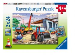 RAVENSBURGER CT 2 X 24 PCS - CHANTIER ET COURSE AUTOMOBILE