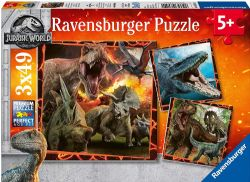 RAVENSBURGER CT 3X49 PCS - JURASSIQUE WORLD #08054