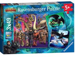 RAVENSBURGER CT 3 X 49 PCS - APPRIVOISER LES DRAGONS
