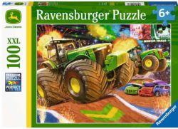 RAVENSBURGER CT 100 PCS - JOHN DEERE GROSSES ROUES #12983 (BIG FOOT)
