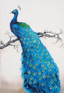 DIAMOND DOTZ - BLUE PEACOCK - DIAMOND PAINTING - PEINTURE À DIAMOND