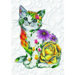 DIAMOND DOTZ - FLOWER PUSS -