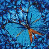 DIAMOND DOTZ PAPILLON BLEU (FLUTTER BY BLUE ) - DIAMOND PAINTING - PEINTURE À DIMAOND