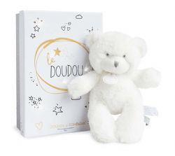 PANTIN OURS BLANC 20 CM