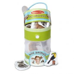 MELISSA AND DOUG - JOUET DE BAIN EN MOUSSE DE FORME D'ANIMAUX SAUVAGES (COLLANT)