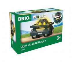 BRIO #33896 - WAGON LUMINEUX CHARGÉ D'OR