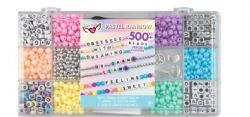 FASHION ANGEL - ENS. DE PERLES ALPHABET PASTEL