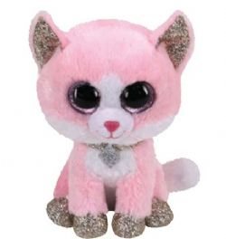 PELUCHE TY - FIONA CHAT ROSE PETIT 6