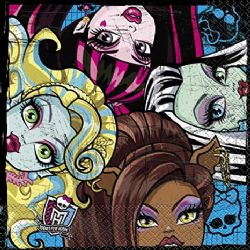 SERVIETTES DE TABLE MONSTER HIGH