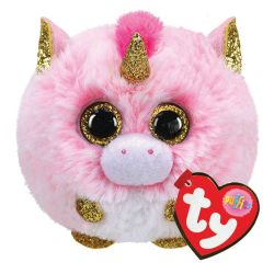 LICORNE ROSE PUFFIES À GROS YEUX FANTASIA