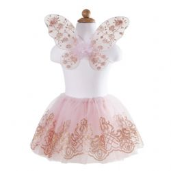ROBE PAPILLON ROSE FILLE 4À7 ANS