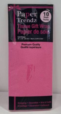PAPIER DE SOIE ROSE FONCÉ