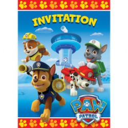 CARTES INVITATIONS PAT PATROUILLE