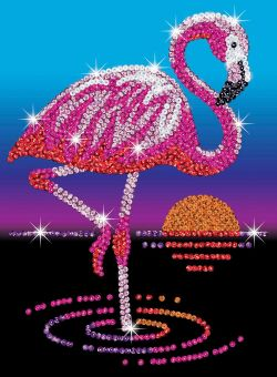 SEQUIN ART - FRANKIE LE FLAMANT ROSE