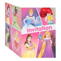 8 INVITATION DE FÊTE PRINCESSE