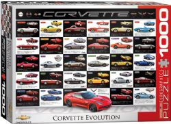 EUROGRAPHICS CT (1000 PCS) - ÉVOLUTION DE LA CORVETTE