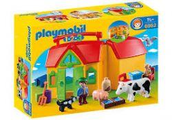 PLAYMOBIL - FERME TRANSPORTABLE AVEC ANIMAUX #6962