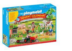 PLAYMOBIL CALENDRIER DE L'AVENT - ANIMAUX DE LA FERME #70189