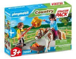 PLAYMOBIL STARTER PACK CAVALIERE ET PALEFRENIER #70505