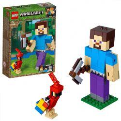 LEGO MINECRAFT BIGFIG STEVE AVEC UN PERROQUET #21148***