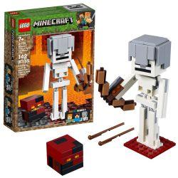 LEGO MINECRAFT BIGFIG SQUELETTE CUBE DE MAGMA #21150