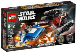 STAR WARS MICROVAISSEAUX A WING CONTRE #75196***