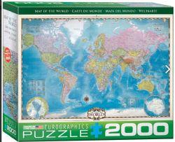 EUROGRAPHICS 2000 PCS - CARTE DU MONDE