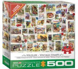 EUROGRAPHICS 500 LARGES PCS - TIMBRE VINTAGE DE FAUNE