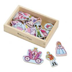 WOODEN PRINCESS MAGNET
