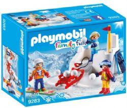 PLAYMOBIL ENFANTS AVEC BOULES DE NEIGE #9283***