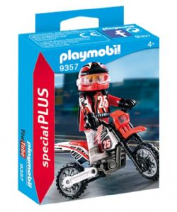 PLAYMOBIL - PILOTE DE MOTOCROSS #9357