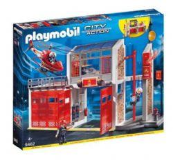 PLAYMOBIL - CASERNE DE POMPIERS AVEC HELICOPTERE #9462