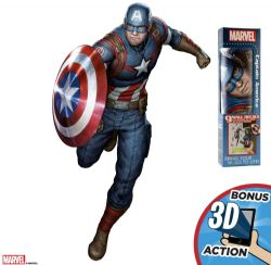 STICKERS MURAUX DE CAPTAIN AMERICA