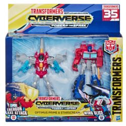 TRANSFORMERS CYBERVERSE WARRIOR - OPTIMUS PRIME ET STARSCREAM