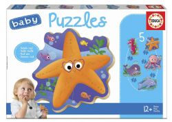 EDUCA -5 CASSE-TÊTES BABY PUZZLES - ANIMAUX MARINS VF20