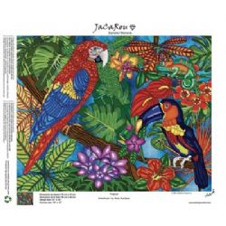 JACAROU - BRODERIE DE DIAMANTS - TROPICAL - DIAMOND DOTZ - DIAMOND PAINTING
