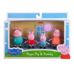 ENS 4 FIGURINES  PEPPA PIG