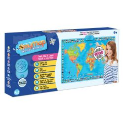 MAPPEMONDE INTERACTIVE BILINGUE