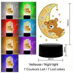JACAROU - LAMPE DE TABLE LED D'OURS-LUNE
