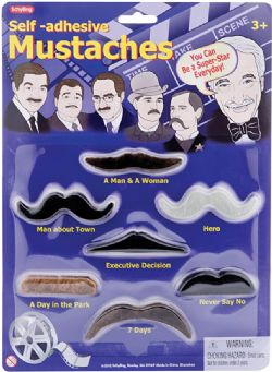 KIT DE MOUSTACHES ADHESIVE