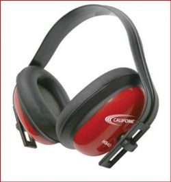 PROTECTEUR SON 26 DB ROUGE CALIFONE (COQUILLE ANTI-BRUIT)