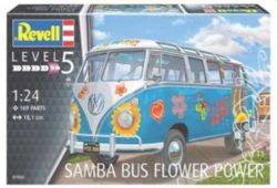 MODÈLE À COLLER - REVELL 07050 VW T1 SAMBA BUS FLOWER POWER 1/24